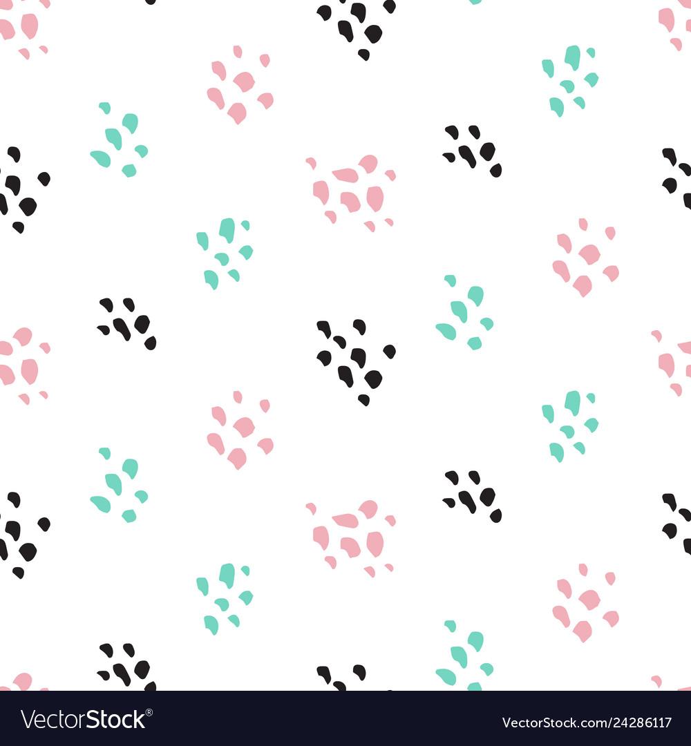 Cute paint grunge seamless pattern