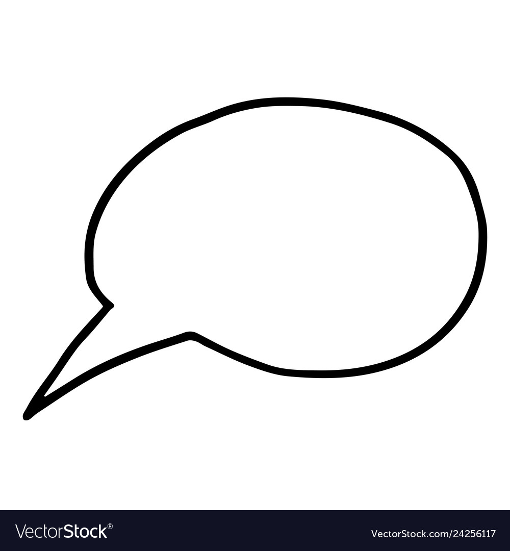 Flat free hand drawing speech bubble