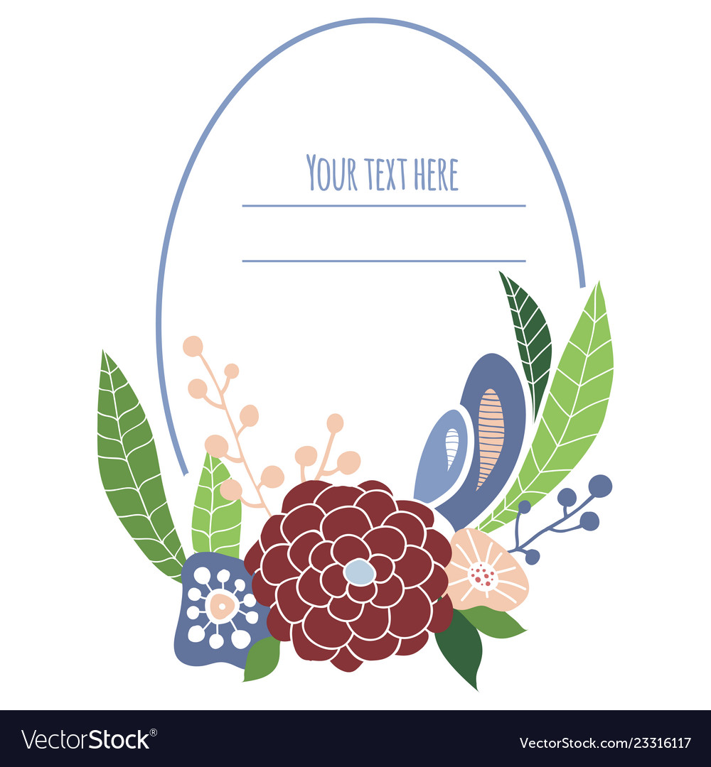 Floral frame with place for text