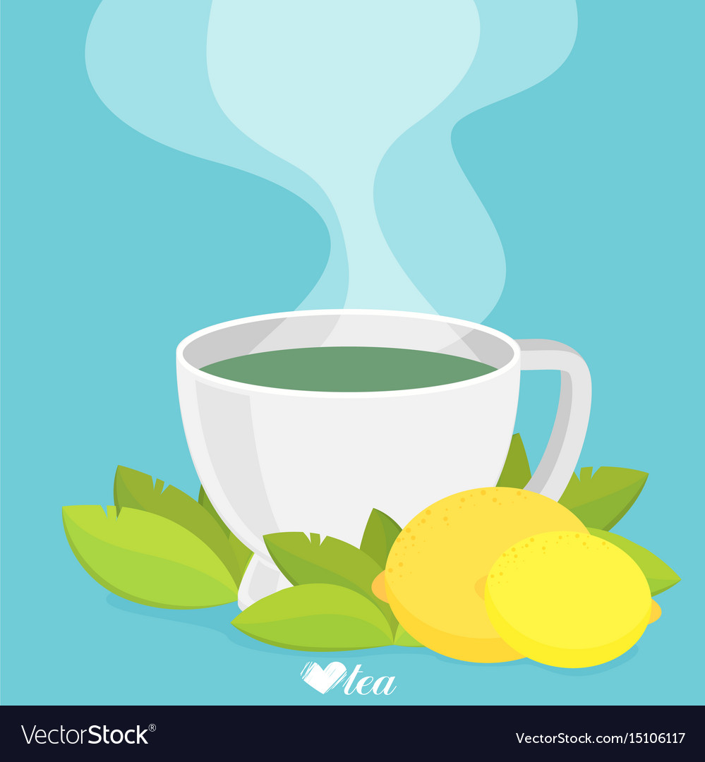 Green tea with lemon flat