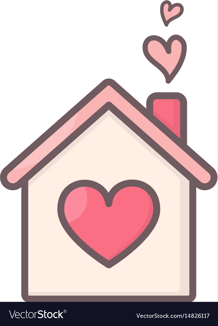 House with hearts inside