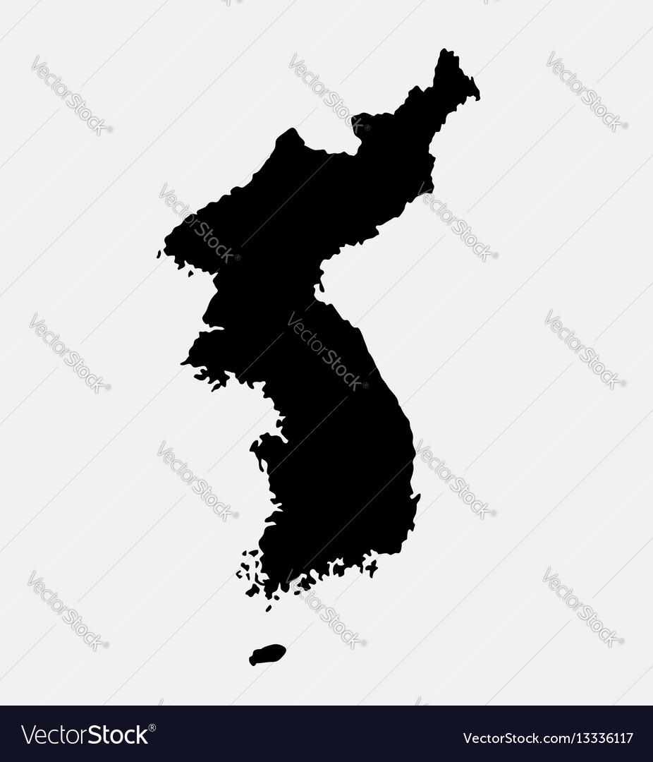 Korea island map silhouette