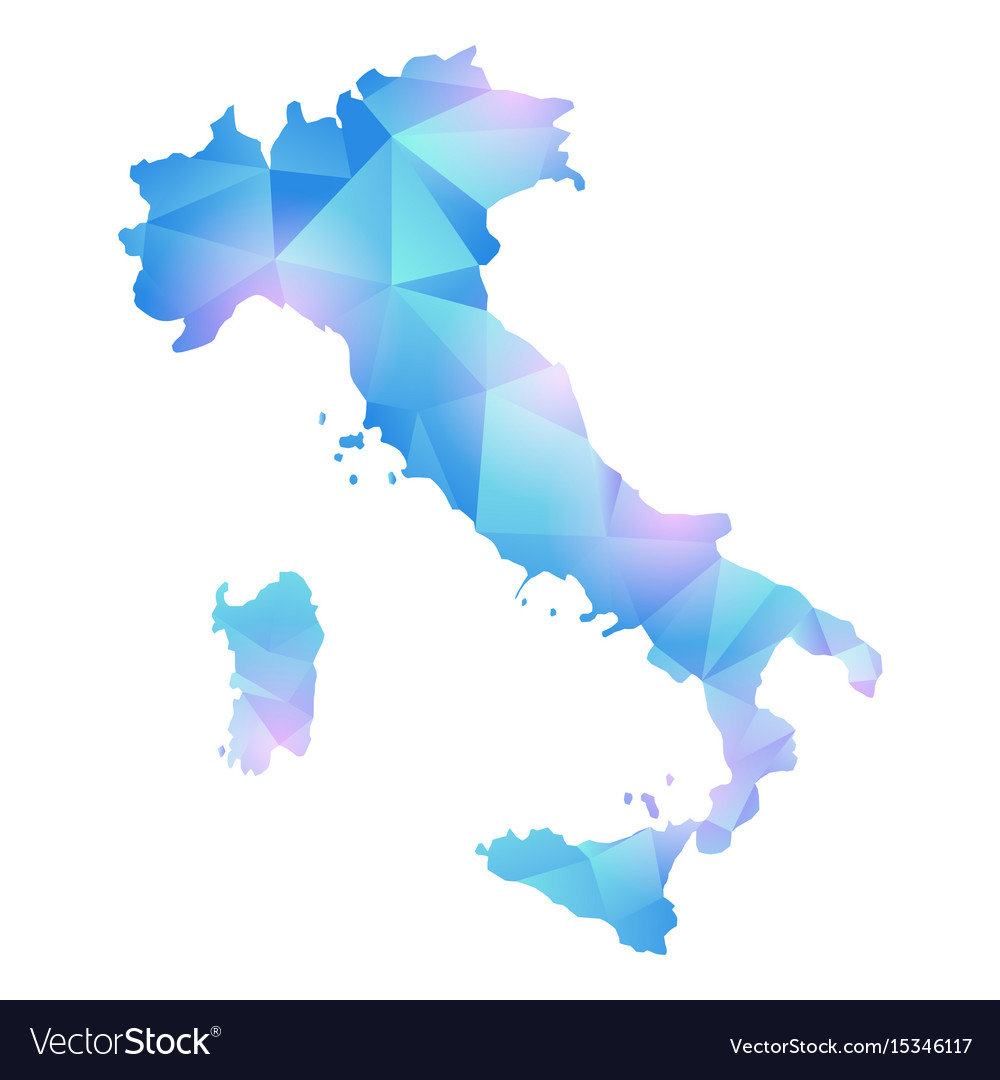 Pdf Map Of Italy.Map Of Italy Polygon
