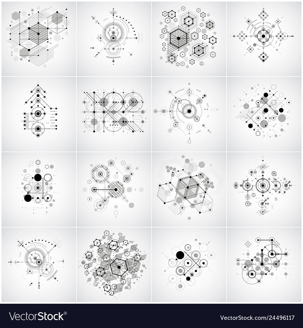 Set of modular bauhaus backgrounds created from