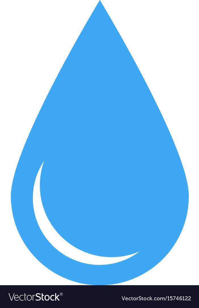 blue water drop symbol simple flat icon royalty free vector