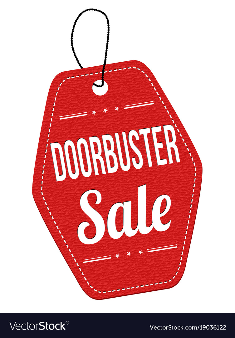 Doorbuster sale label or price tag vector image  sc 1 st  VectorStock & Doorbuster sale label or price tag Royalty Free Vector Image
