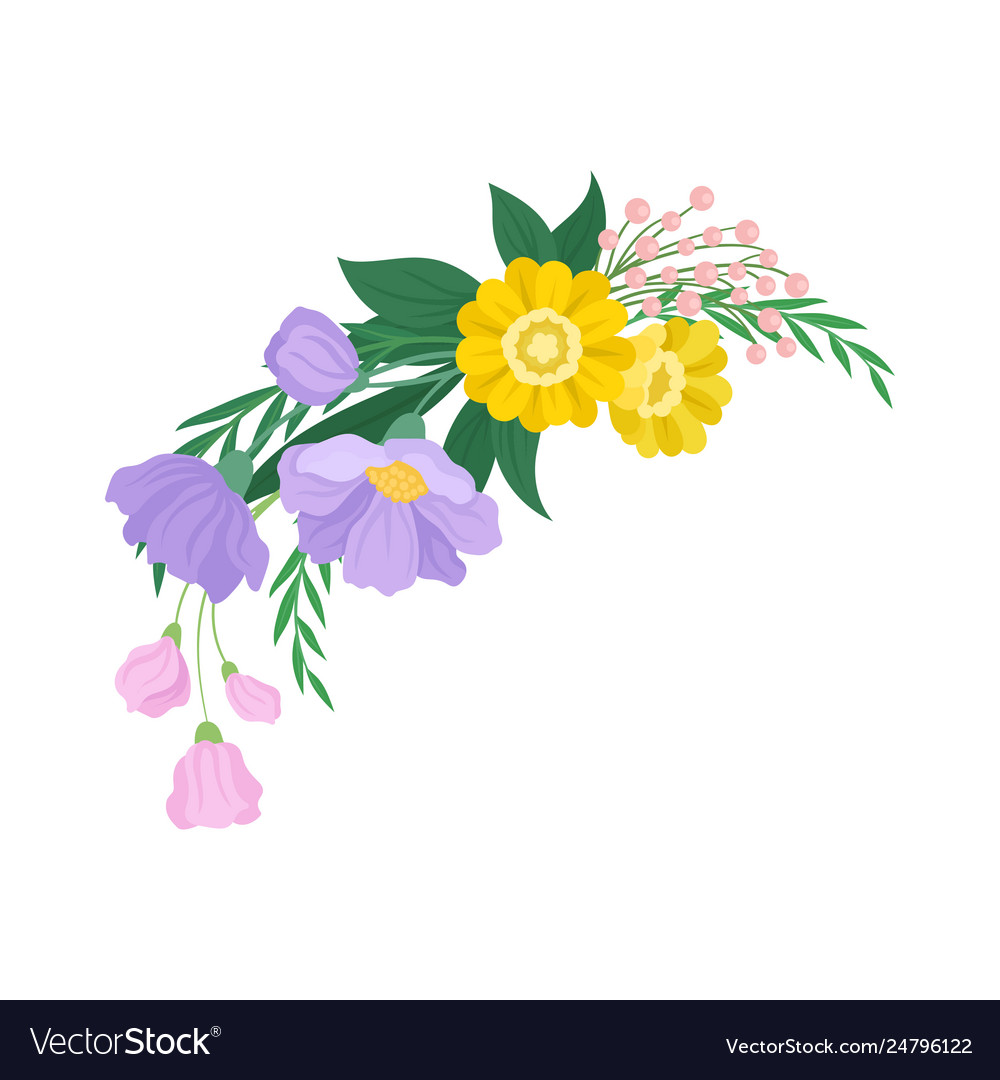 Flowers Bouquet On White Background