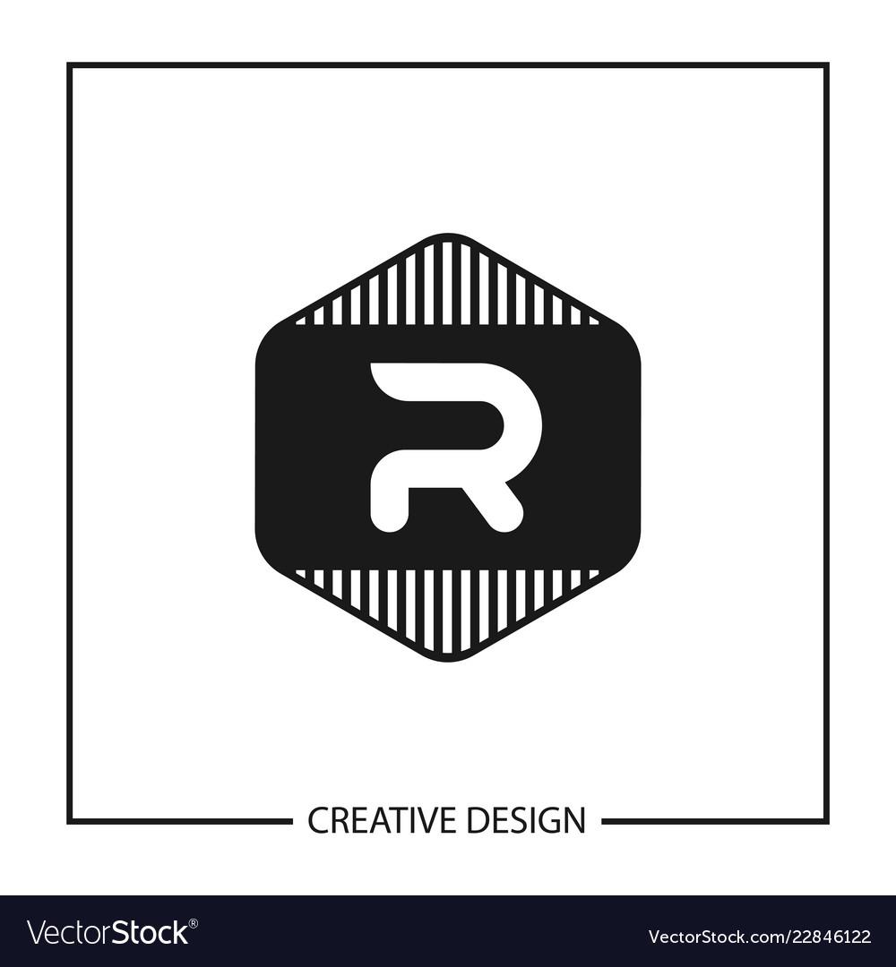 letter r logo template  Initial letter r logo template design