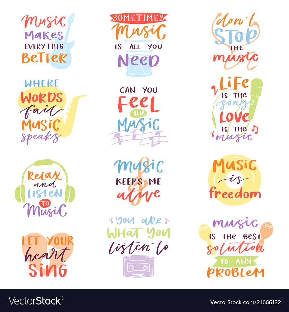 Music lettering musical calligraphy text or