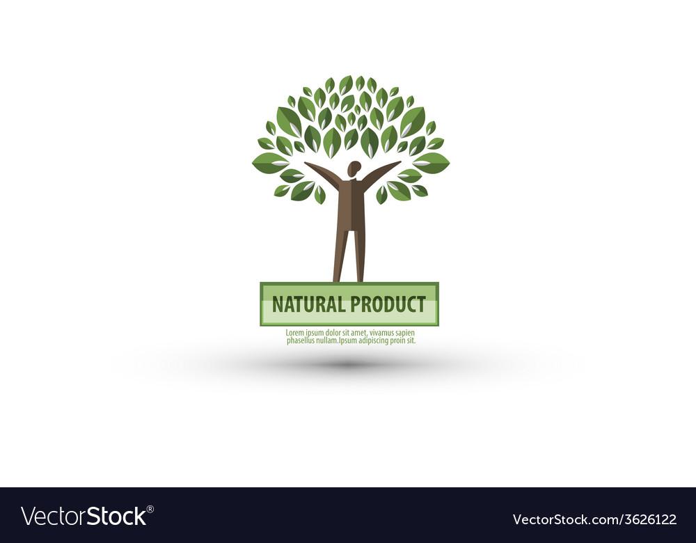 Nature logo design template ecology or bio icon