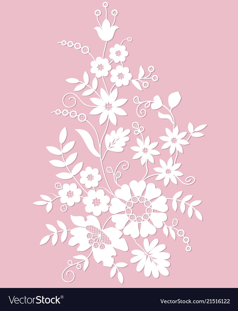 Silhouette flowers ornament