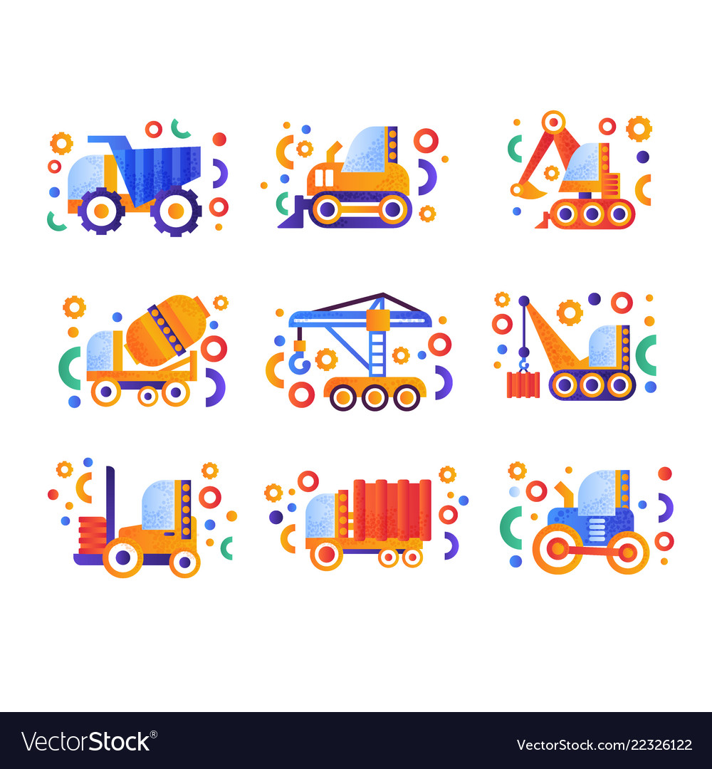 Special transport set heavy industrial and