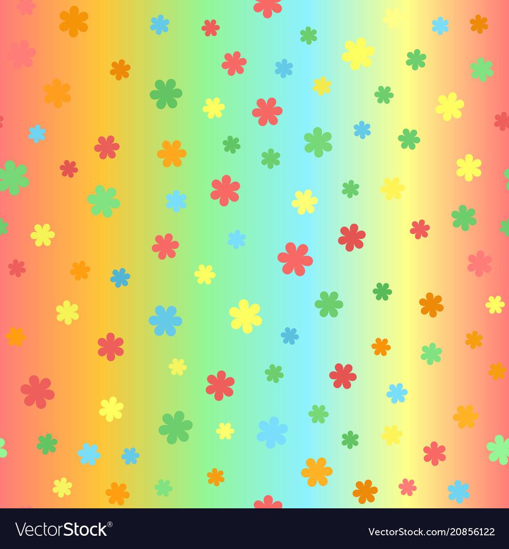 Summer flower pattern seamless