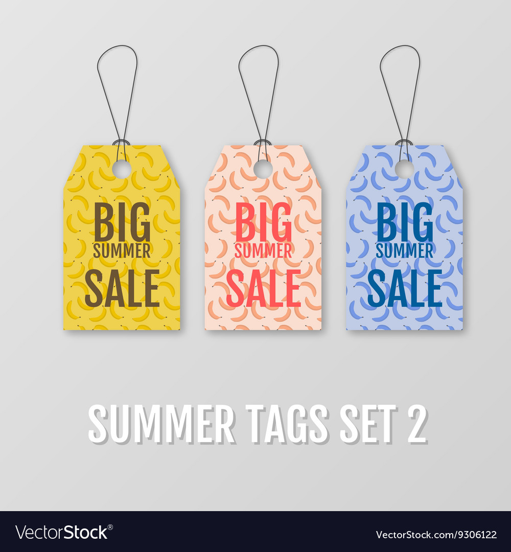 Summer tags set Sale sticker with special