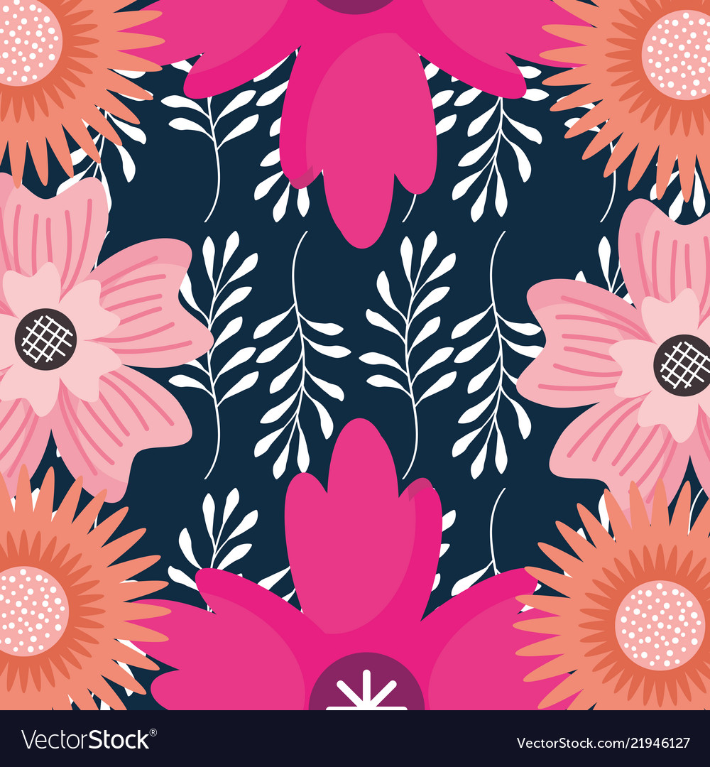 Background flowers branches leaves floral