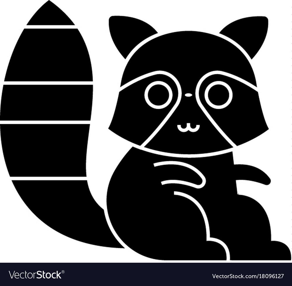 Badger raccoon cute icon vector image