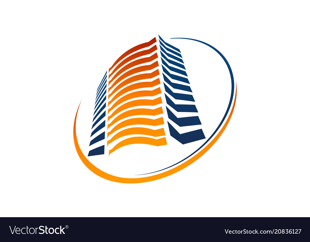 Hotel solution logo design template vector image