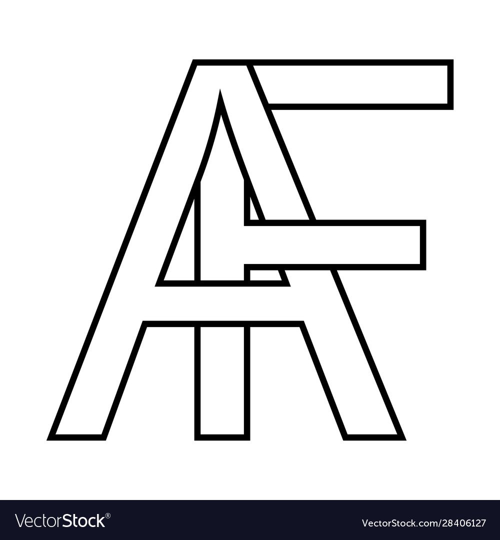 Logo af icon sign interlaced letters a f
