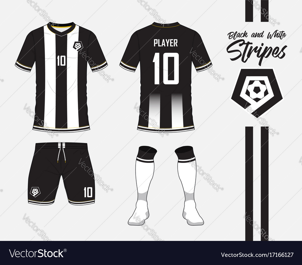 Soccer kit or football jersey template and logo Vector Image 882eb6eb5