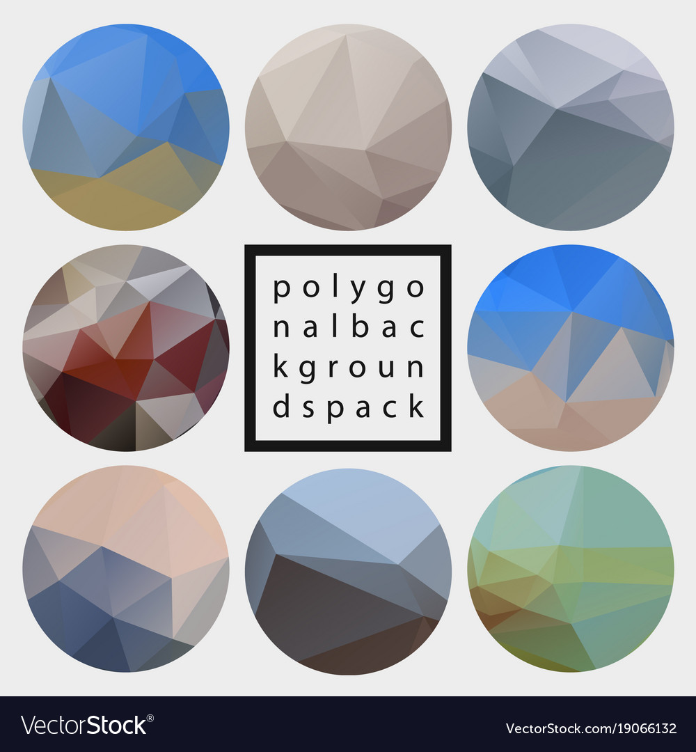 Abstract polygonal design backgrounds pack