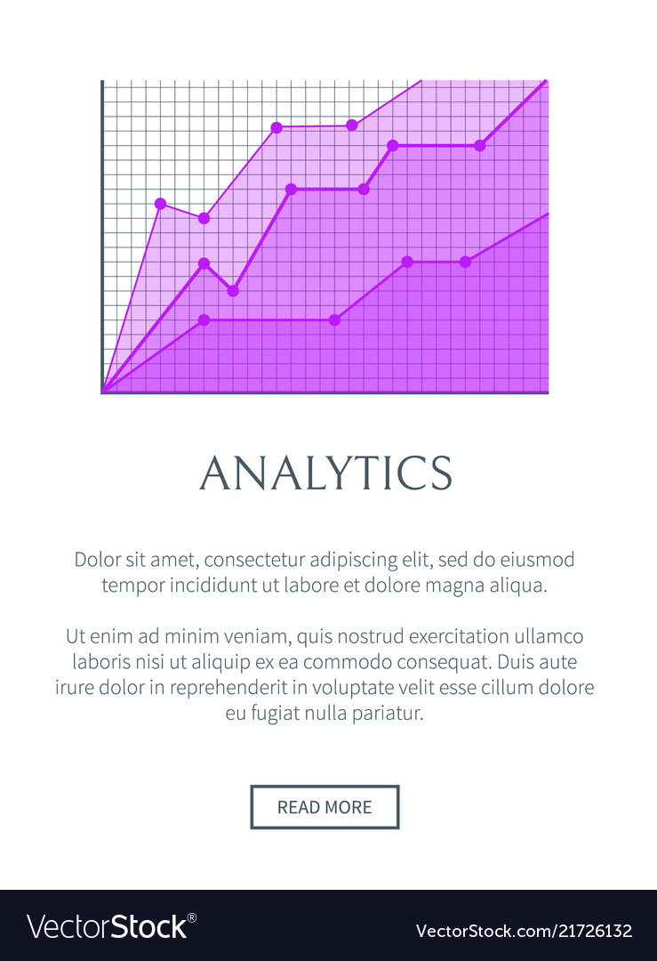 Analytics visualization in form of linear graphic