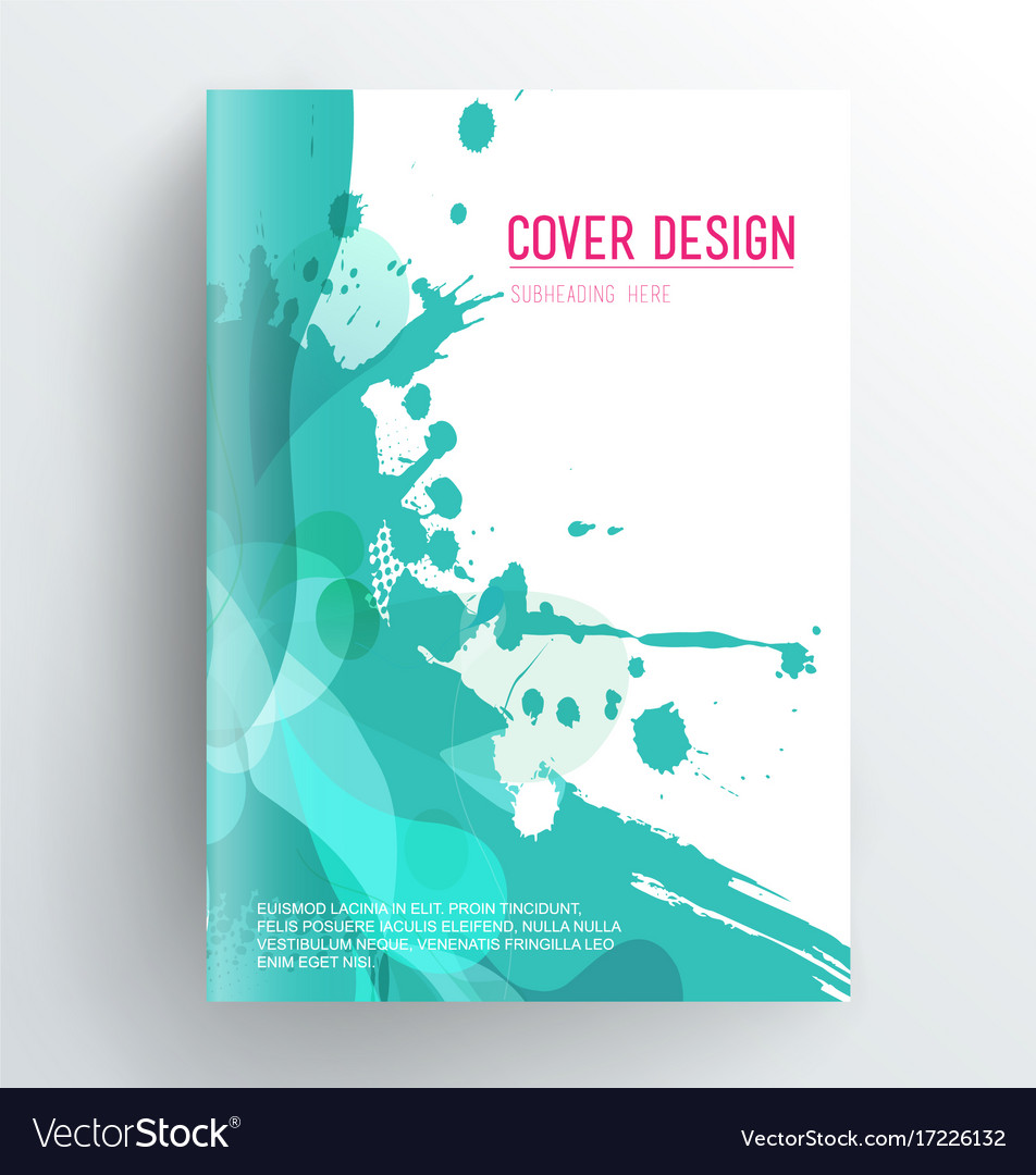 Poetry Book Cover Template Free : Book cover design template with abstract splash vector image