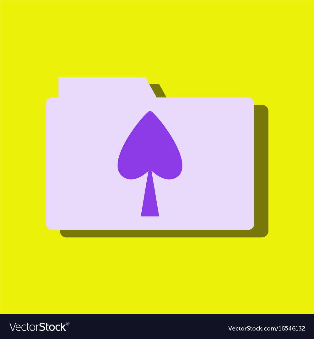Flat icon design collection spade symbol on