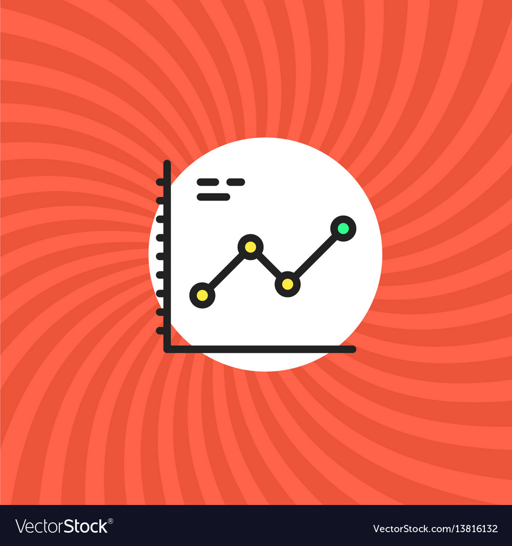 Increase graphic icon simple line cartoon vector image