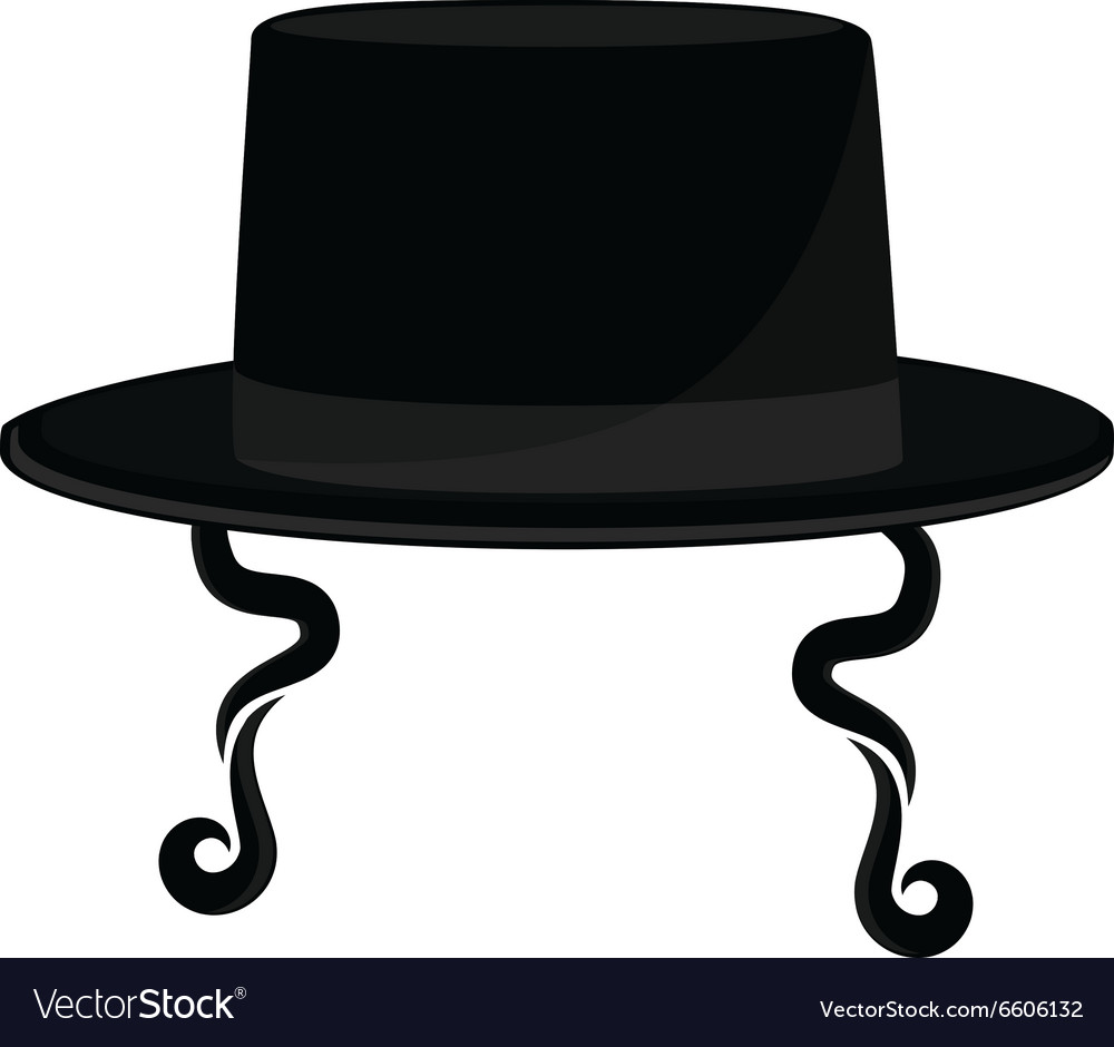 Jewish hat with sideburns