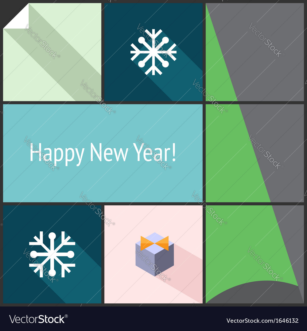 New Year flat interface
