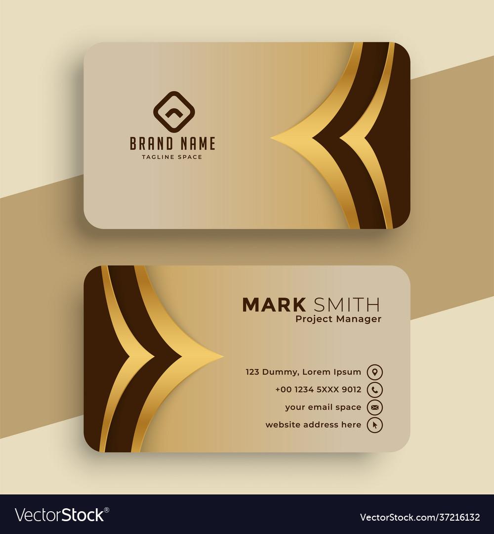 Royal golden business card template design