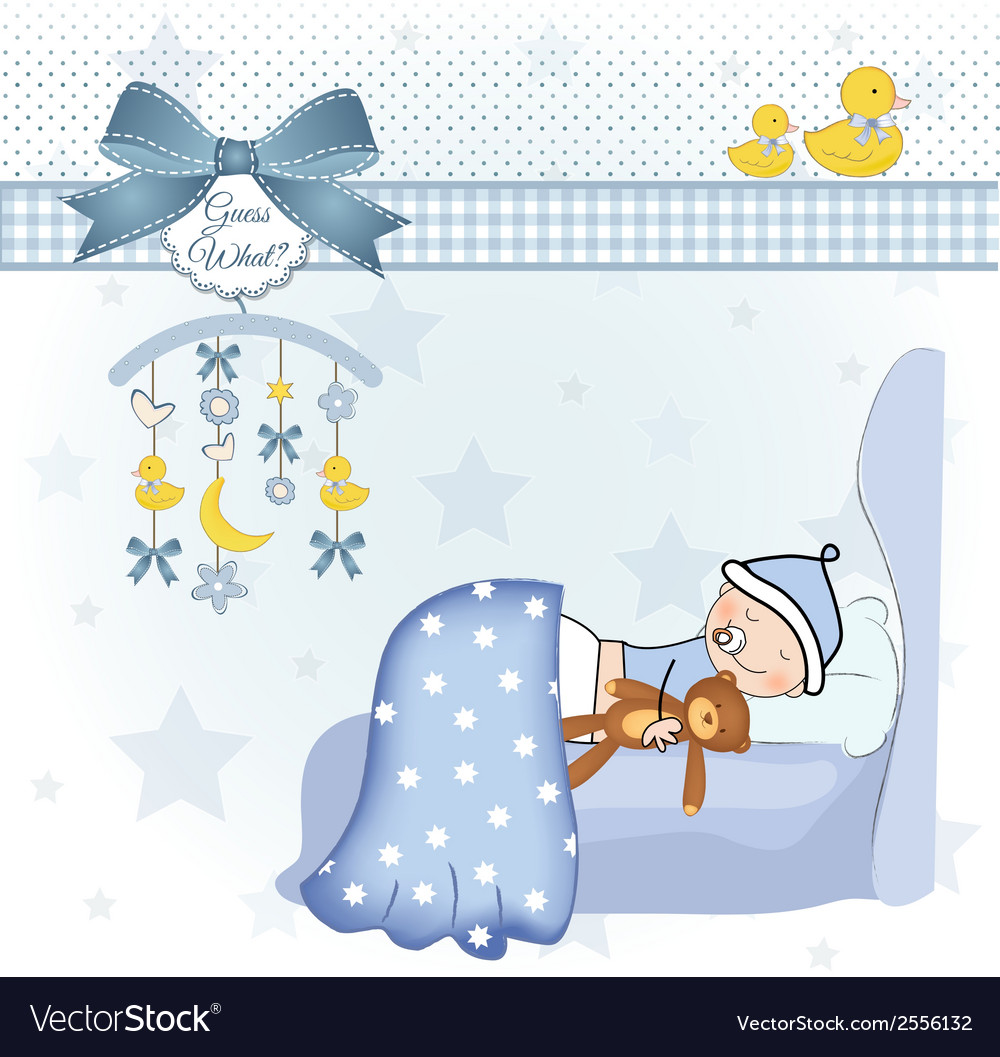 welcome new baby boy royalty free vector image