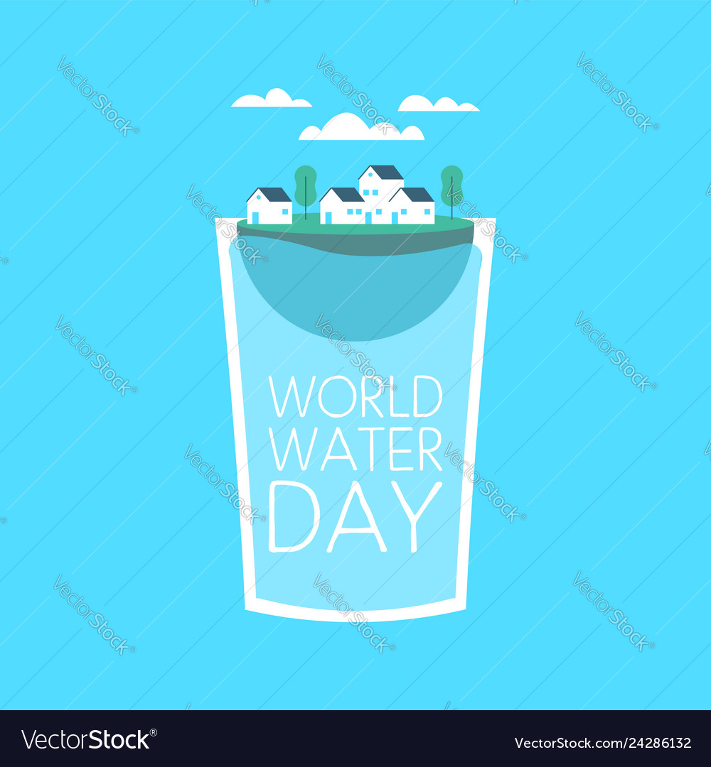 World water day drink glass concept for awareness