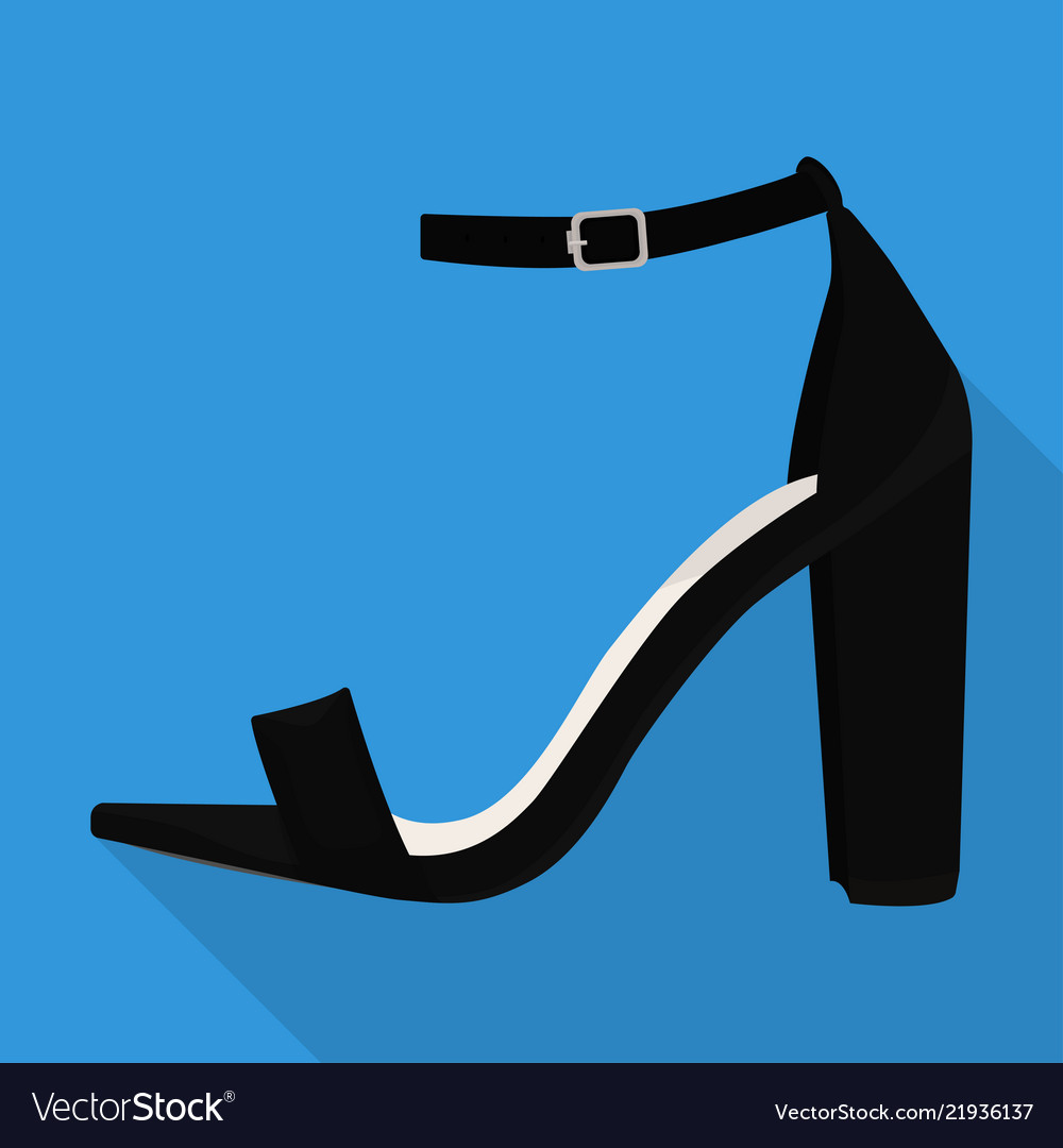 Ankle strap shoes woman flat isolated