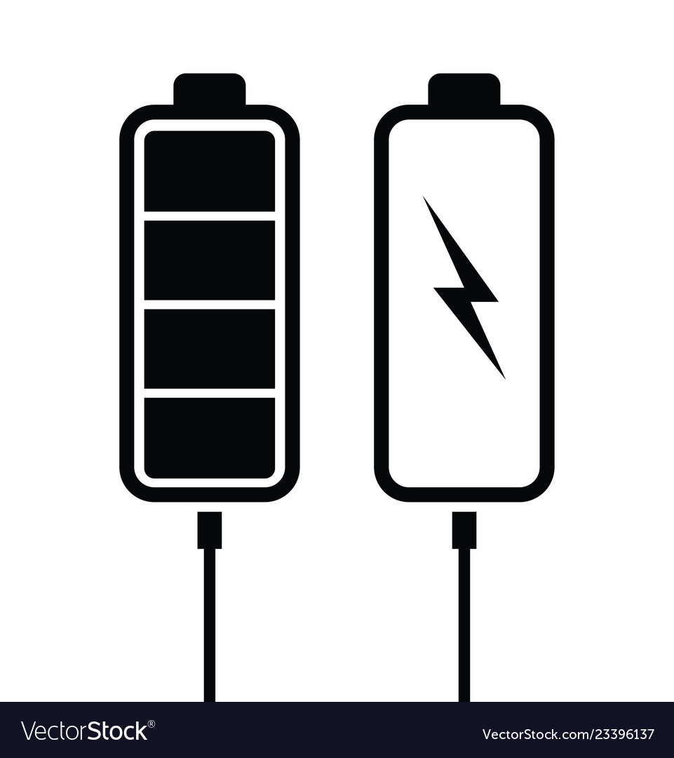 Battery black charging levels