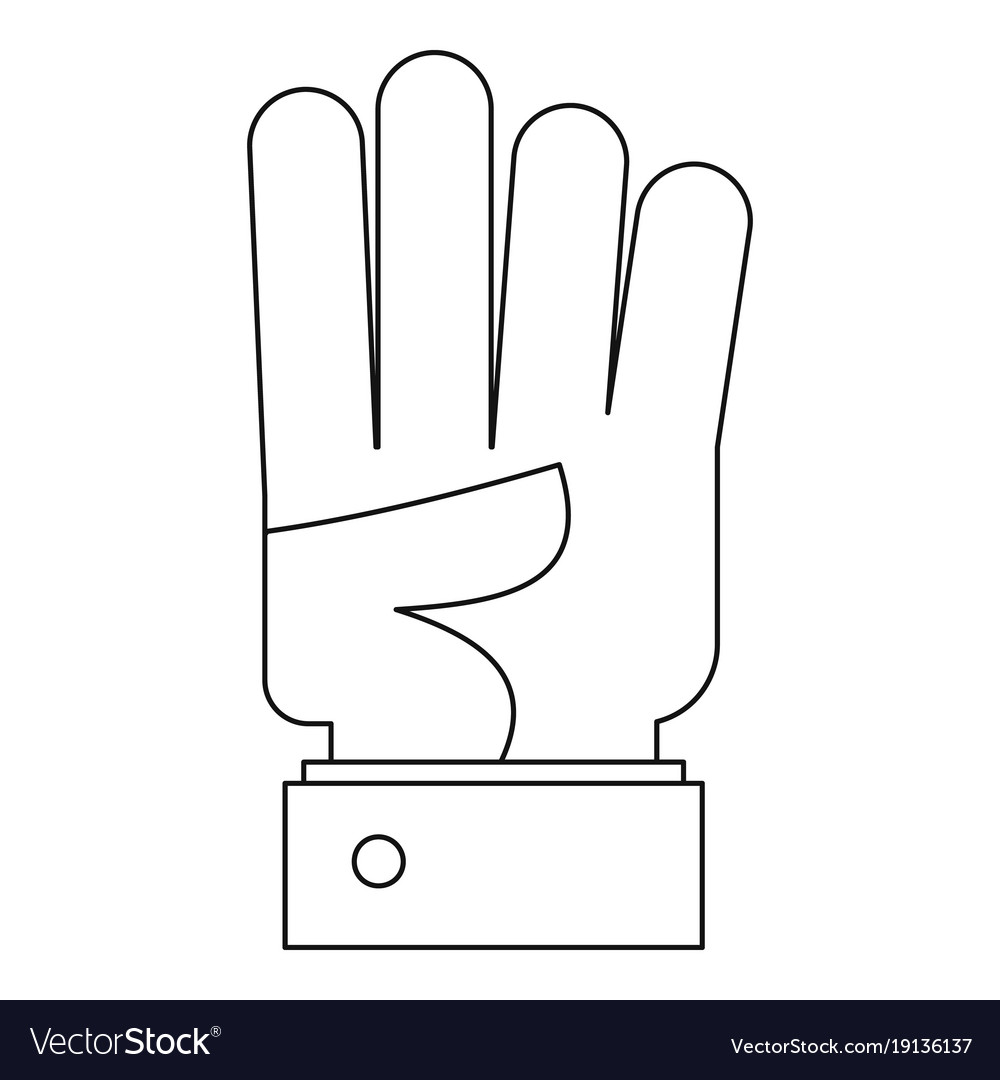 Bend finger icon outline style