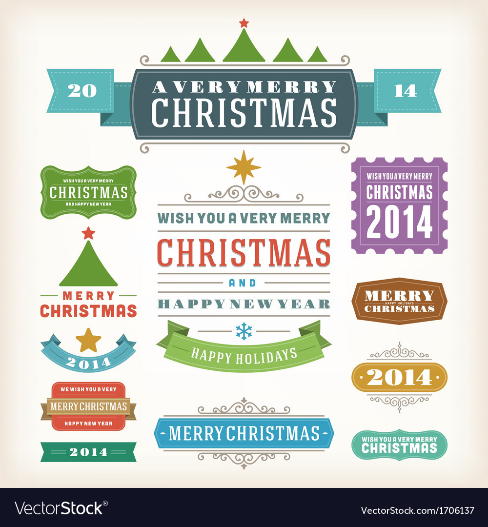 Christmas decoration design elements