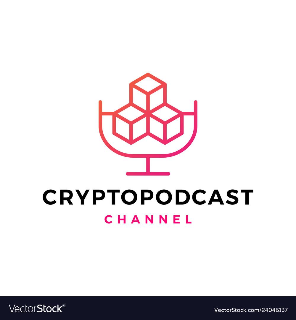 Crypto podcast logo icon for blockchain