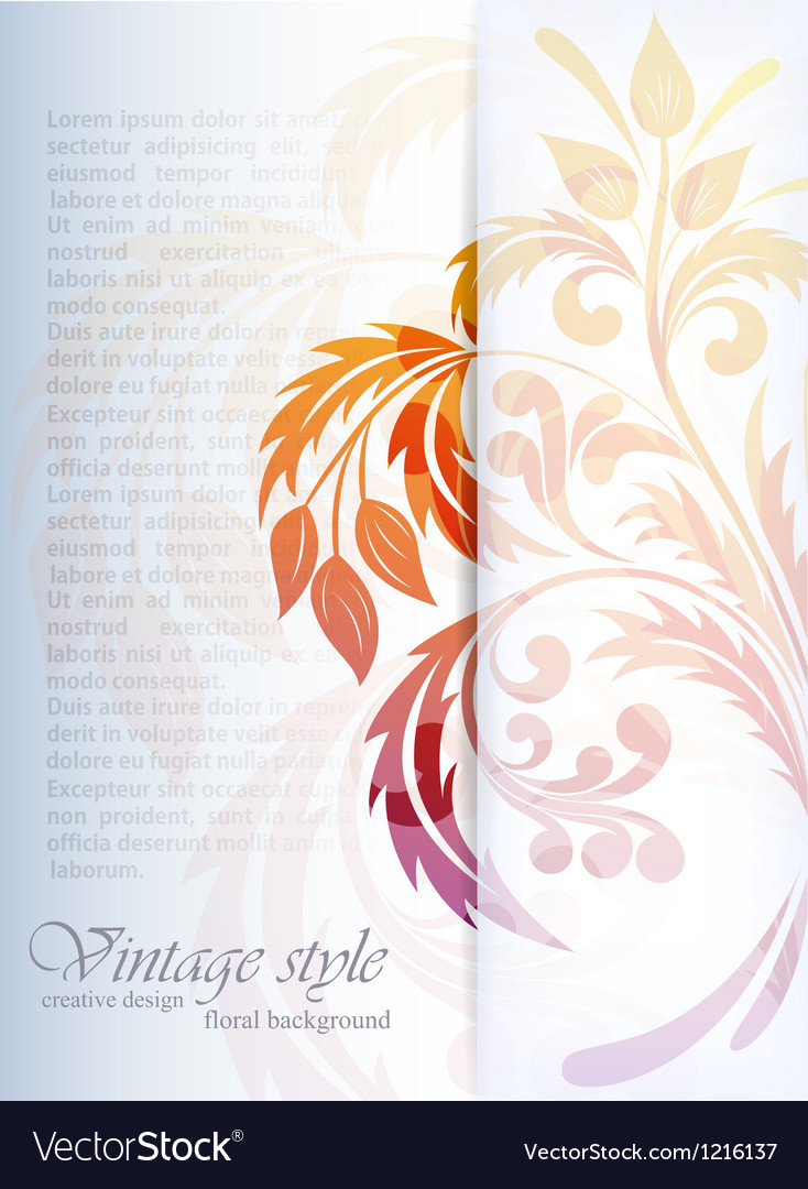 Floral bright background vector image