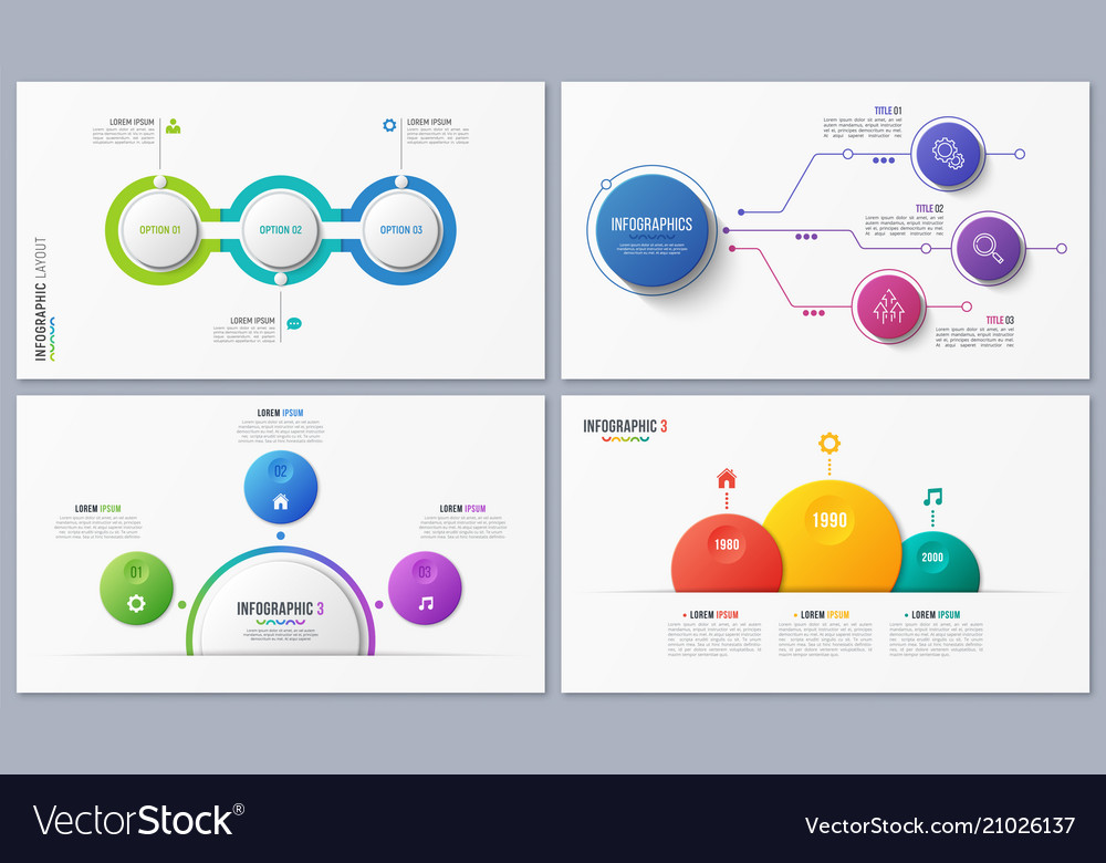 Set of contemporary infographic designs concepts