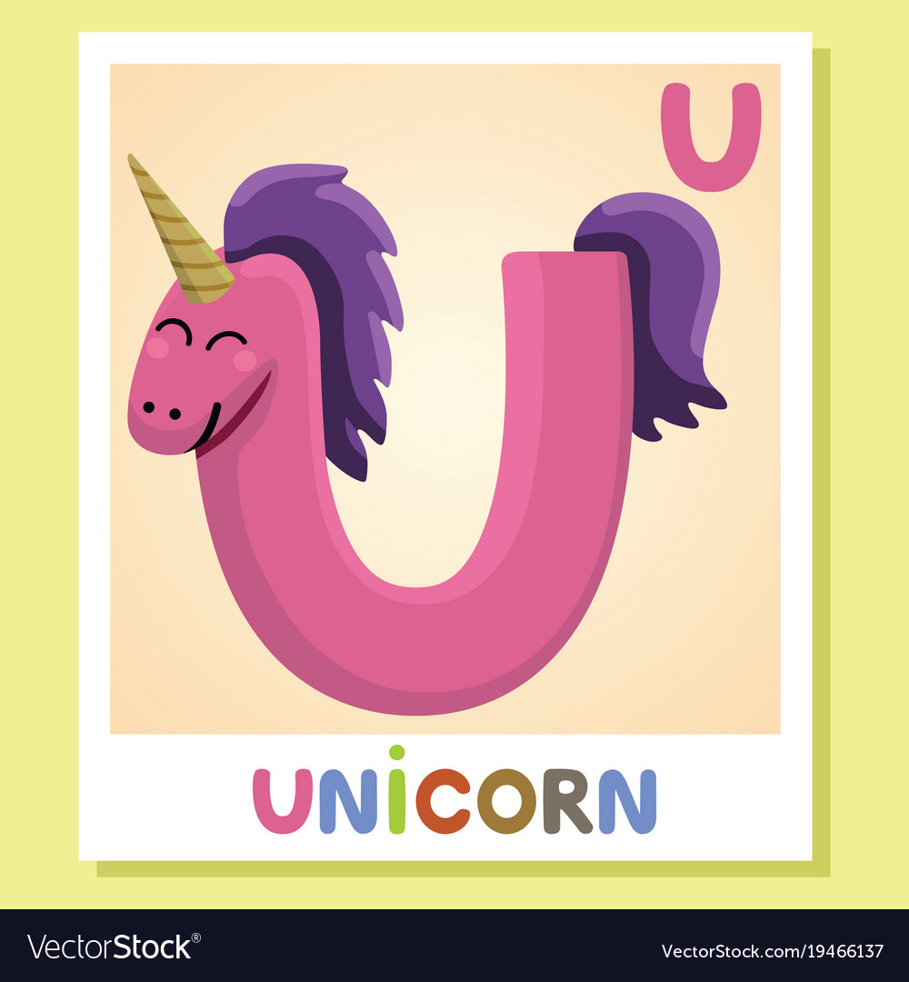 Isolated, Animal, Alphabet, Letter & U Vector Images (37)