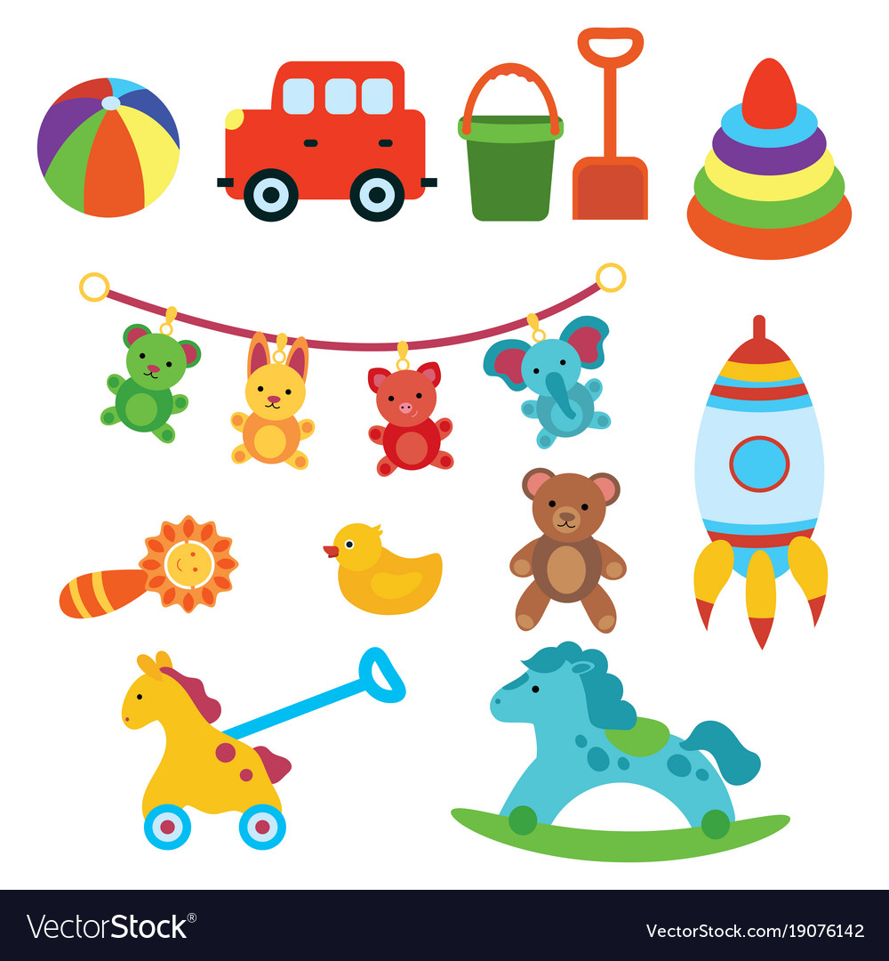 A set of toys for children for