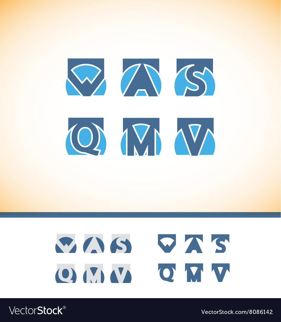Alphabet letter logo icon set