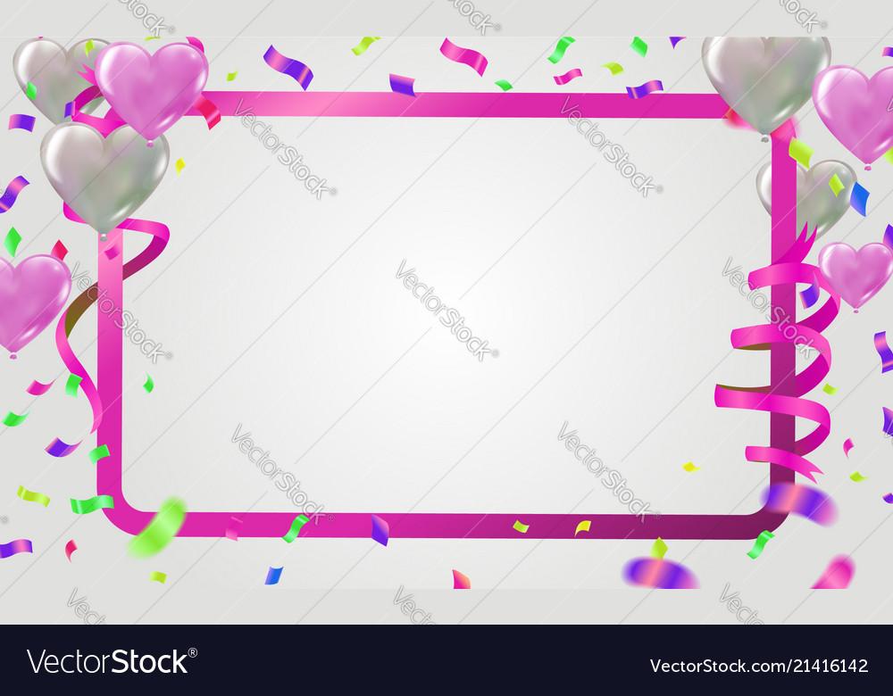 Balloons happy birthday on purple space on paper