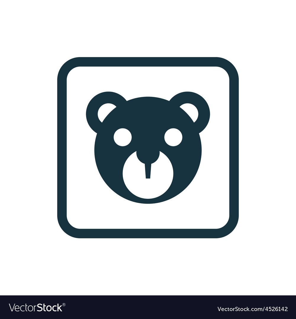 Bear toy icon Rounded squares button