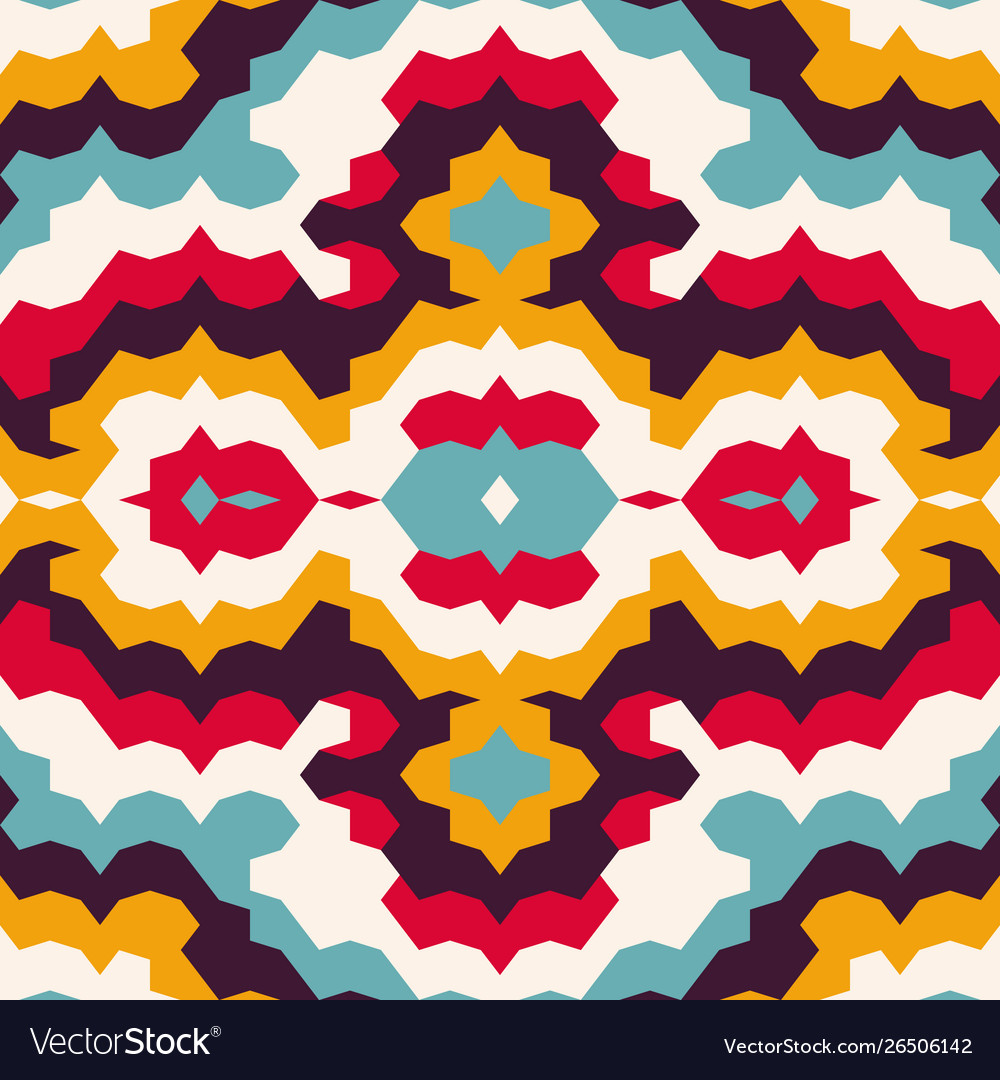 Bright psychedelic vintage seamless pattern
