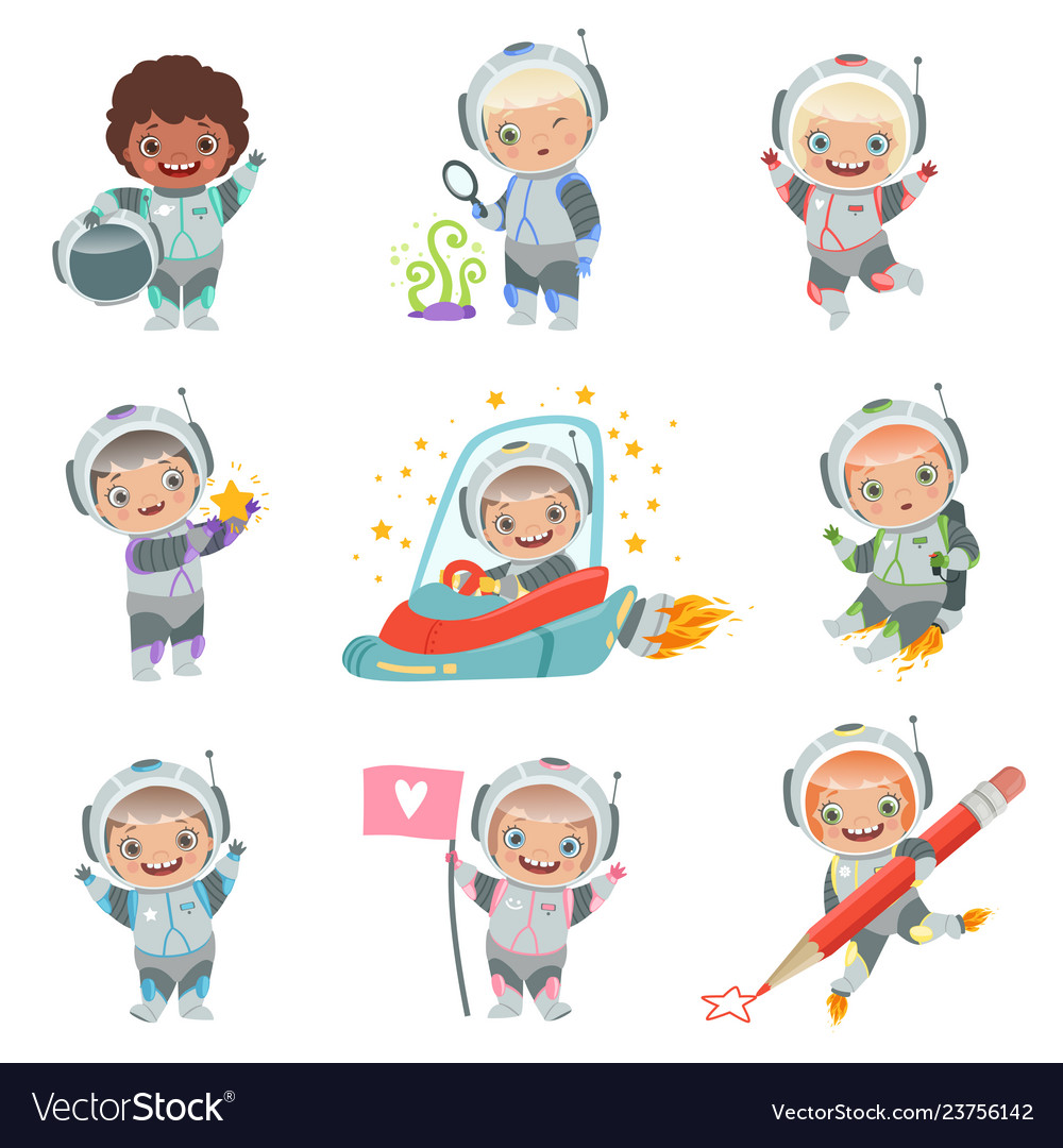 Childrens in space kids astronauts funny