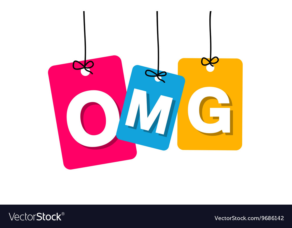 Colorful hanging cardboard Tags - omg vector image