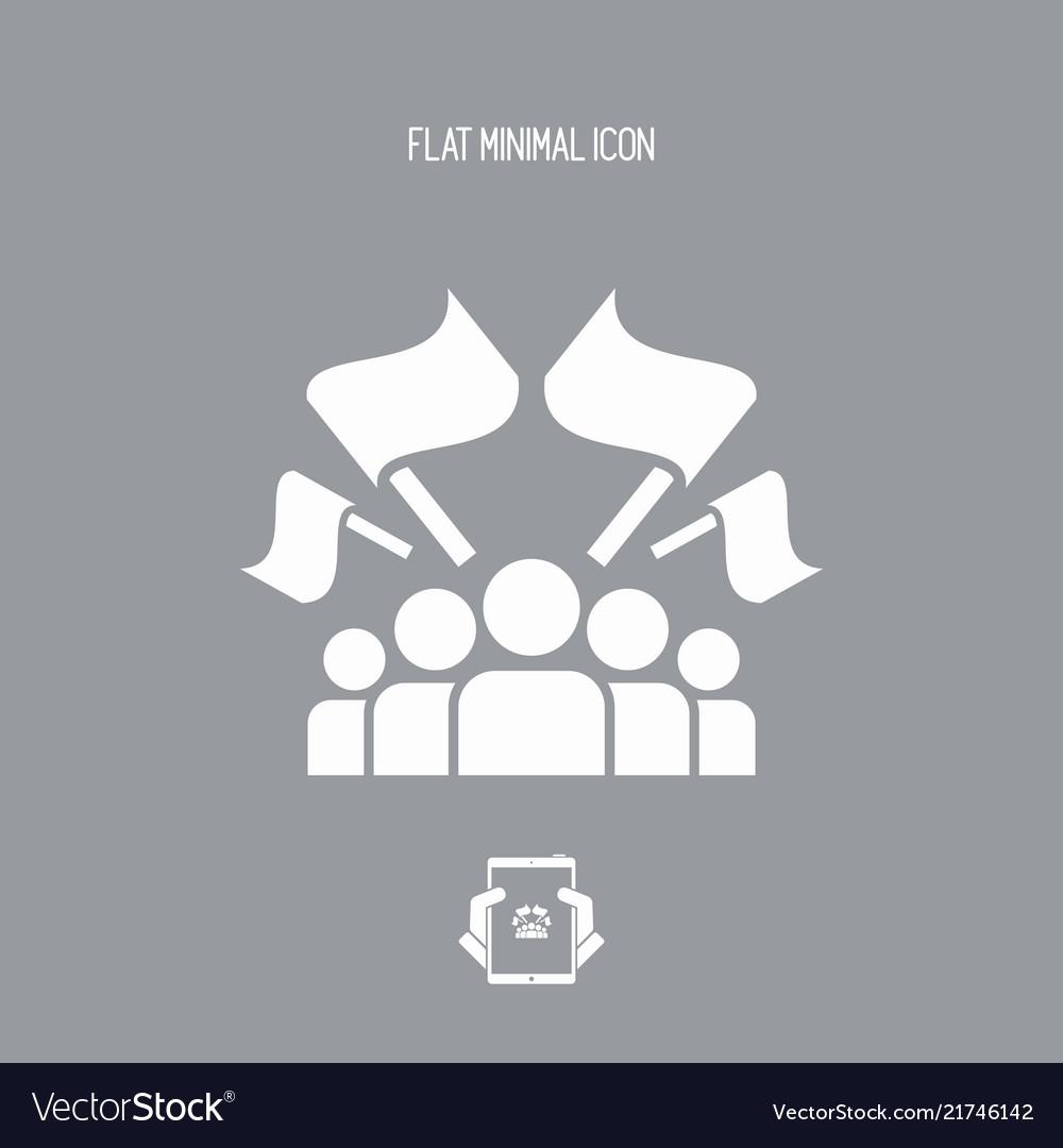 Fans crowd - flat minimal icon