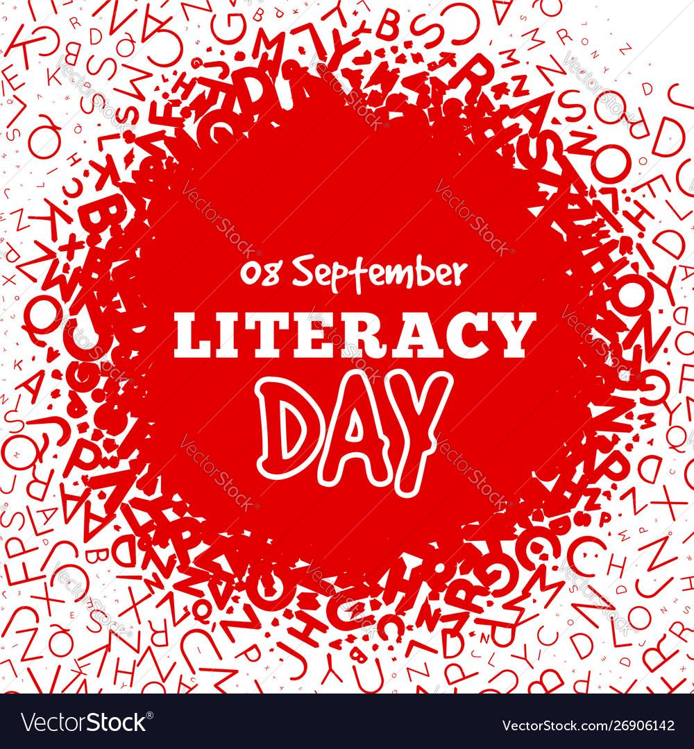 Literacy day - september 8th